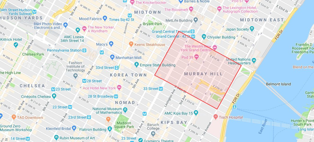 Murray Hill map